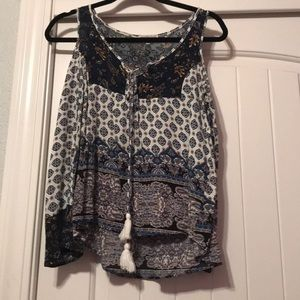 Charlotte Russe open shoulder blouse.